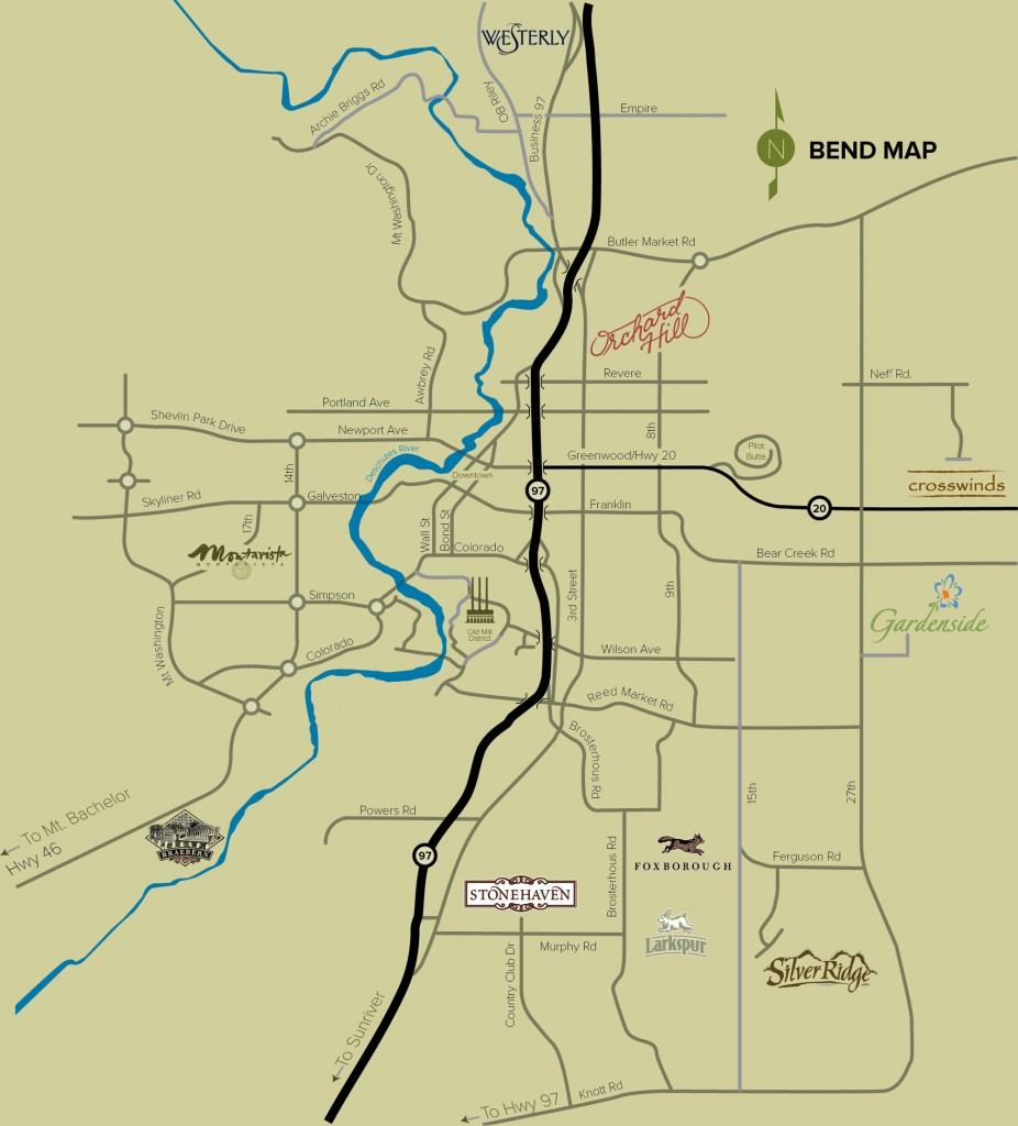 Palmer Homes Bend Neighborhoods Map 2014